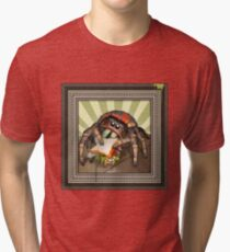 """""""Lunch on the Fly"""" Jumping Spider Sandwich Tri-blend T-Shirt"""