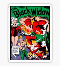 Black Widow Comic Page Sticker