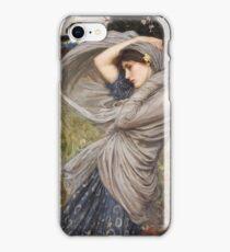 John William Waterhouse - Boreas . Woman portrait: sensual woman, girly art, female style, pretty women, femine, beautiful dress, cute, creativity, love, sexy lady, erotic pose iPhone Case/Skin