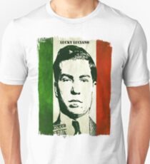Lucky Luciano Italy Flag Unisex T-Shirt