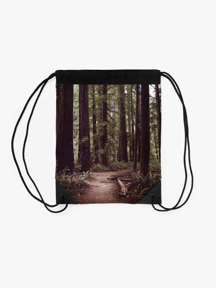 Alternate view of Redwood Forest Drawstring Bag