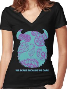 Sulley - Monsters Inc. Women's Fitted V-Neck T-Shirt
