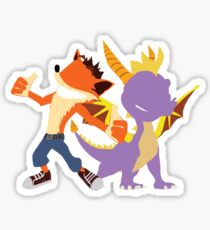 Crash and Spyro Sticker