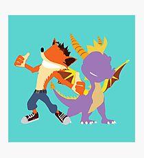 Crash and Spyro Photographic Print