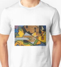 Juan Gris - Still Life With A Guitar. Abstract painting: abstract art, geometric,  Guitar, composition, lines, forms, creative fusion, spot, shape, illusion, fantasy future T-Shirt