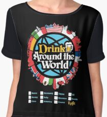 Drink Around the World - EPCOT Checklist v1 Chiffon Top