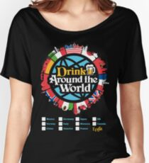 Drink Around the World - EPCOT Checklist v1 Women's Relaxed Fit T-Shirt