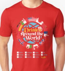 Drink Around the World - EPCOT Checklist v1 T-Shirt