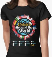 Drink Around the World - EPCOT Checklist v1 Women's Fitted T-Shirt
