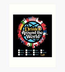Drink Around the World - EPCOT Checklist v1 Art Print