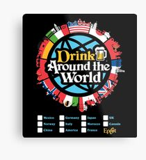 Drink Around the World - EPCOT Checklist v1 Metal Print