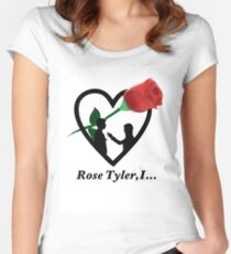 Rose Tyler,I... Women's Fitted Scoop T-Shirt