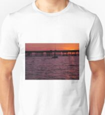 Laishley Pier Sunset, As Is T-Shirt
