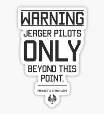 Pegatina Solo para pilotos de Jeager