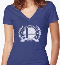 Smash Club Ver. 2 (White) Women's Fitted V-Neck T-Shirt