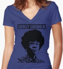 SHIRLEY CHISHOLM-6 Women's Fitted V-Neck T-Shirt