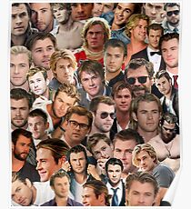 chris hemsworth collage Poster
