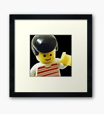 Retro Lego Minifigure Framed Print