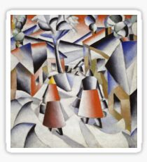 Kazimir Malevich - Morning In The Village After Snowstorm. Abstract painting: abstract art, winter, village, snowstorm, lines, forms, creative fusion, spot, shape, illusion, fantasy future Sticker