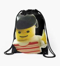 Retro Lego Minifigure Drawstring Bag
