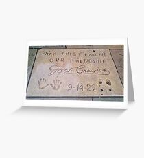 Joan Crawford: May This Cement Our Friendship Greeting Card
