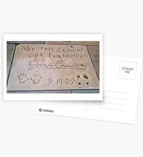 Joan Crawford: May This Cement Our Friendship Postcards