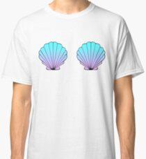 Mermaid Shells Blue-Pink Ombre Classic T-Shirt