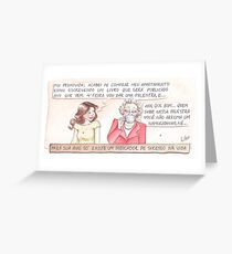 Comic - Grandmother (in Portuguese) Greeting Card