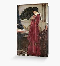 John William Waterhouse - The Crystal Ball . Woman portrait: sensual woman, girly art, female style, pretty women, femine, beautiful dress, cute, creativity, love, sexy lady Greeting Card