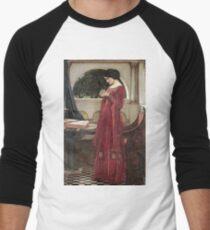John William Waterhouse - The Crystal Ball . Woman portrait: sensual woman, girly art, female style, pretty women, femine, beautiful dress, cute, creativity, love, sexy lady Men's Baseball ¾ T-Shirt