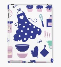 Retro set for baking or cooking. Vector Illustration iPad Case/Skin