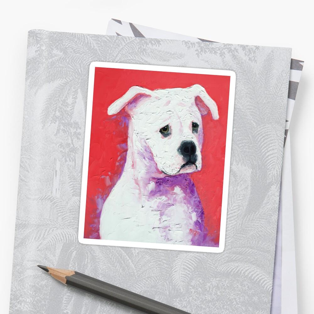 American Bulldog painting by MatsonArtDesign