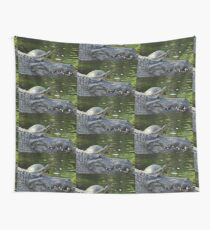 Alligator and Turtle, As Is Wall Tapestry