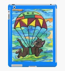 Sky diving Cool Cat  iPad Case/Skin
