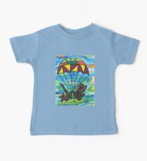 Sky diving Cool Cat  Baby Tee