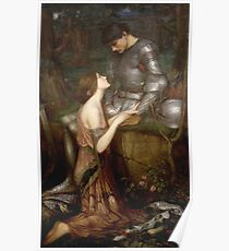 John William Waterhouse - Lamia. Lovers portrait: sensual woman, woman and man, kiss, kissing lovers, love relations, lovely couple, family, valentine's day, sexy, romance, female and male Poster