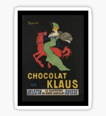 Woman Riding Red Horse Chocolat Klaus Sticker