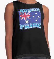 AUSSIE pride with australian flag Contrast Tank
