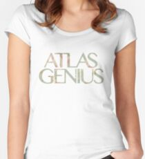 Atlas Genius Vintage Floral Print Women's Fitted Scoop T-Shirt