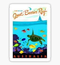 Pegatina AUSTRALIA: Gran Barrera de Coral Imprimir
