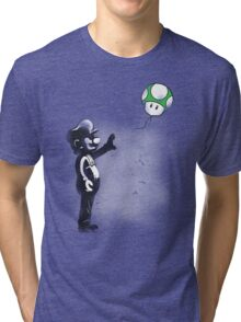 Plumber with mushroom Tri-blend T-Shirt