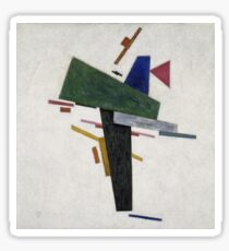 Kazimir Malevich - Untitled. Abstract painting: abstract art, geometric, expressionism, composition, lines, forms, creative fusion, spot, shape, illusion, fantasy future Sticker