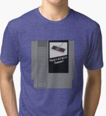 NES Cartridge - Nostalgic Gamer Tri-blend T-Shirt