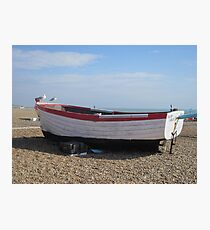 Beached Boat Photographic Print