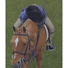 Young Girl and Pony Painting by Patricia Barmatz
