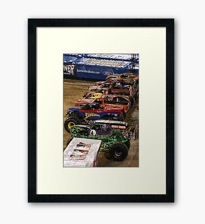 2010 MONSTER JAM JACKSONVILLE, FLORIDA Framed Print