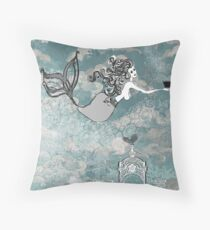 Eos with Titan's toy boat Throw Pillow