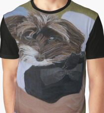 """I Got Carried Away"" Puppy Dog in Equestrian Helmet Painting Graphic T-Shirt"