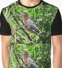 Green Heron Graphic T-Shirt