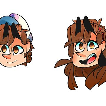 Dipper and Mabel Pines Stickers by AidaDoesDoodles